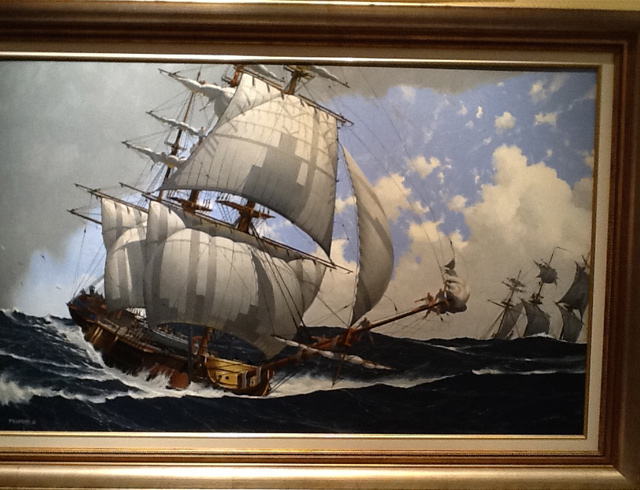 The boussole and Astrolabe expedition la Perouse Oil 130/82 cm