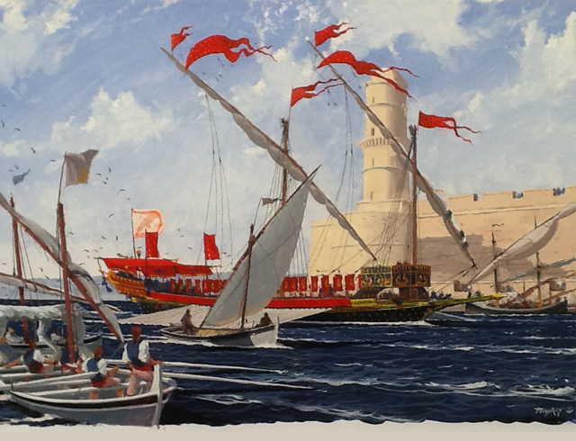 La Reale entering the port of Marseilles Oil on canvas 89 X 130 cm