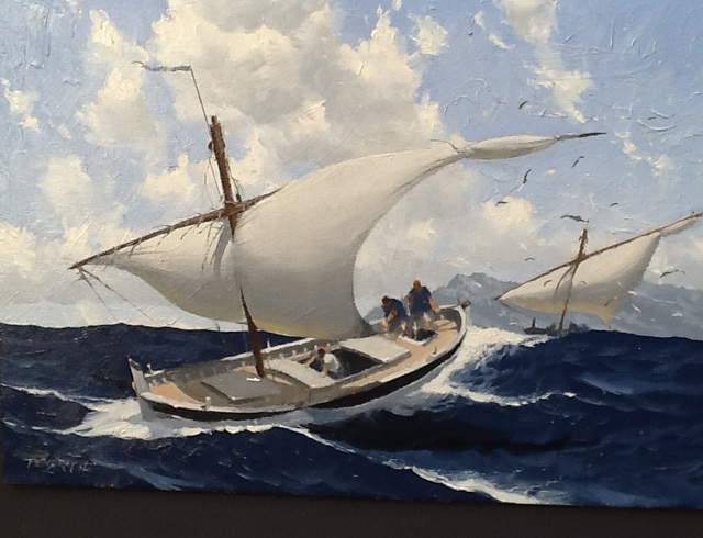 Marseilles barque no 4 - Oil, image 41/27 cm