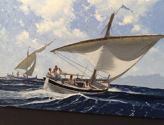 Marseilles barque no 2 - Oil, image 41/27