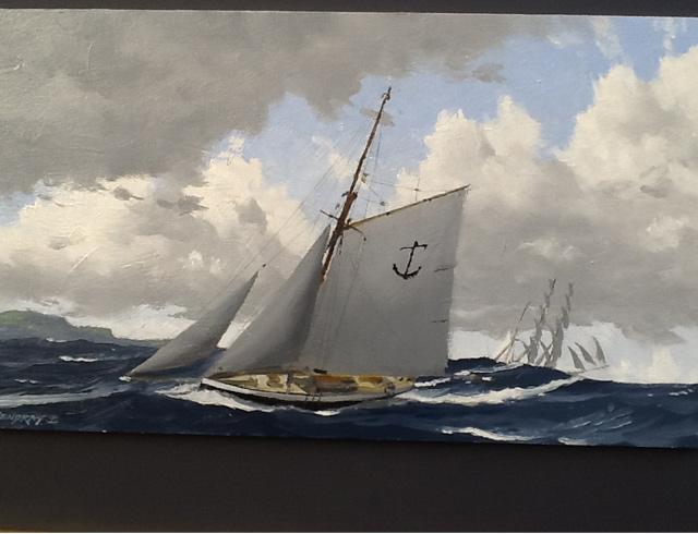 Pilot boat - Oil image 33/19 cm